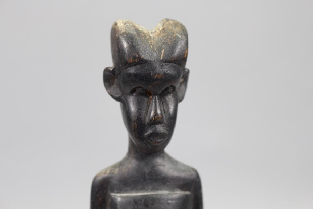 Antique Carved African Baule Woman Figure - 2