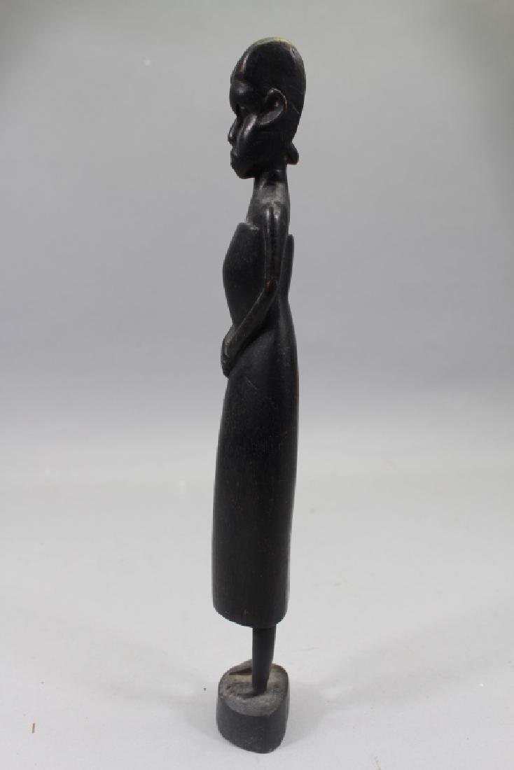 Antique Carved African Baule Woman Figure - 5