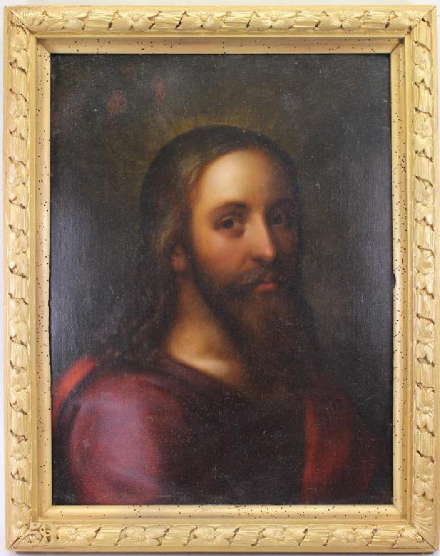 17th C. Portrait of Jesus, Ex Christie's