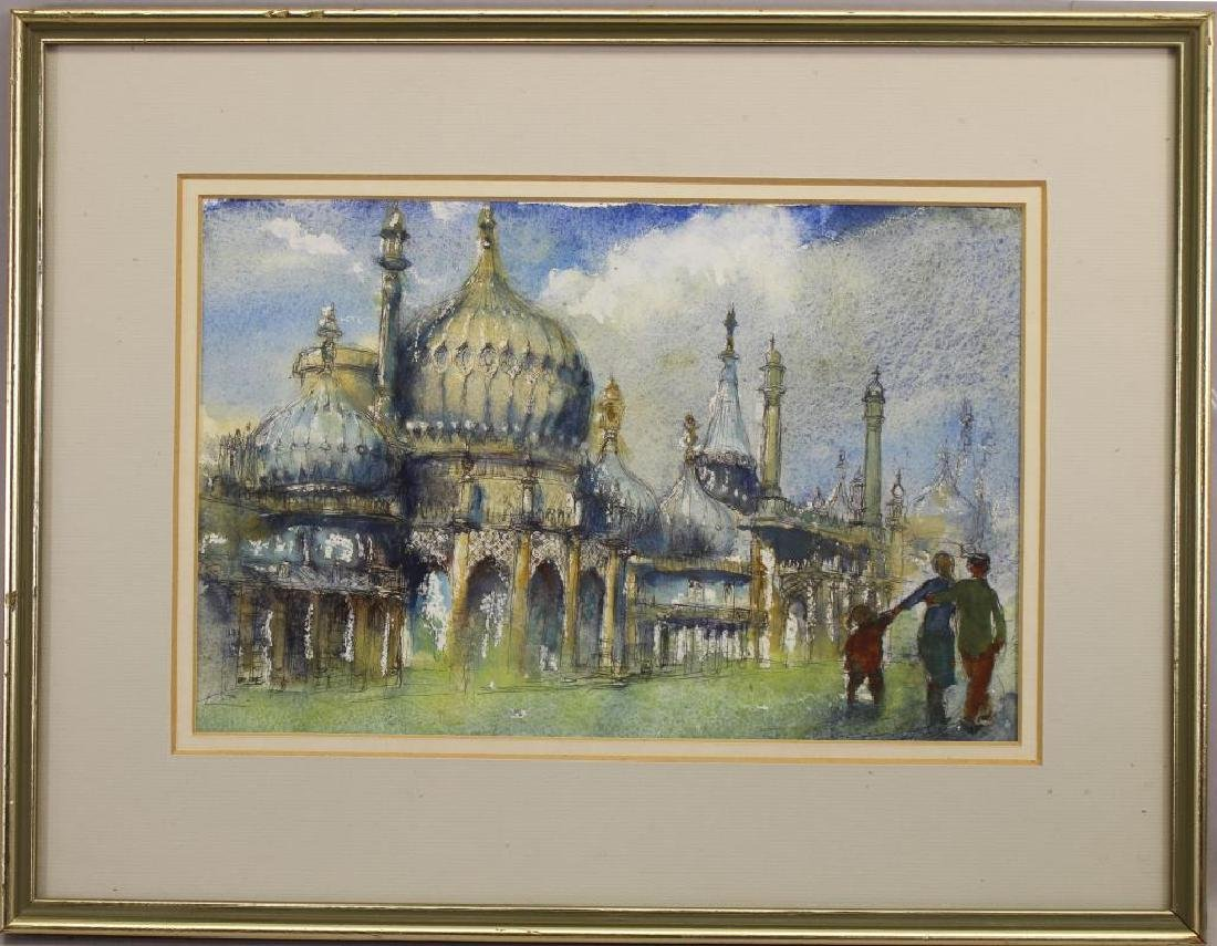 """Royal Pavillion, Brighton"" 20th C. Watercolor"