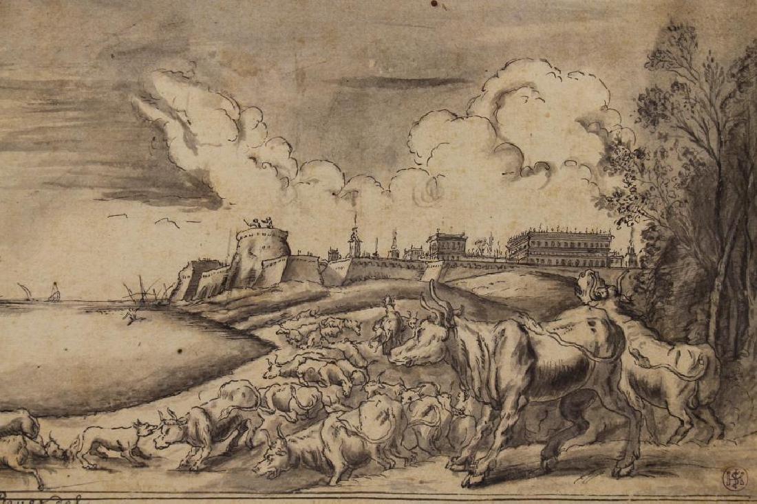 Johann Wilhelm Baur (1607 - 1641) Ink Drawing - 2