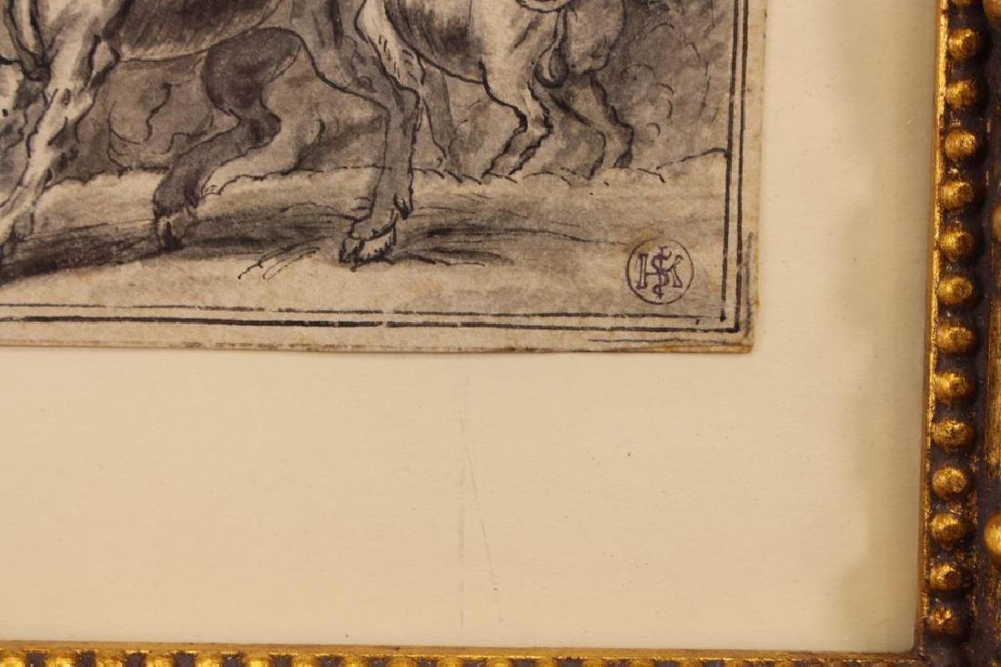 Johann Wilhelm Baur (1607 - 1641) Ink Drawing - 3