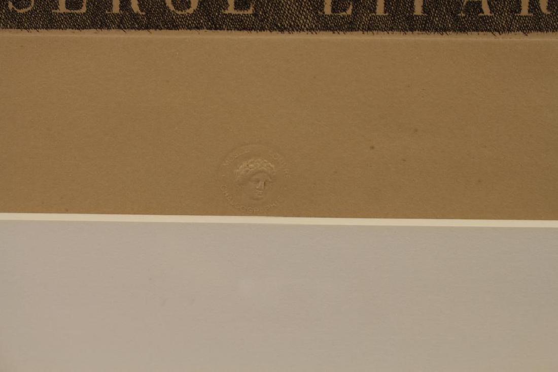 Framed Etching of Serge Lifar, Museum Embossed - 3