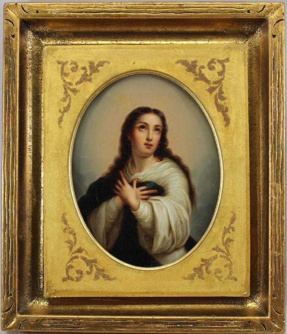 19th C. European School Painting of Madonna