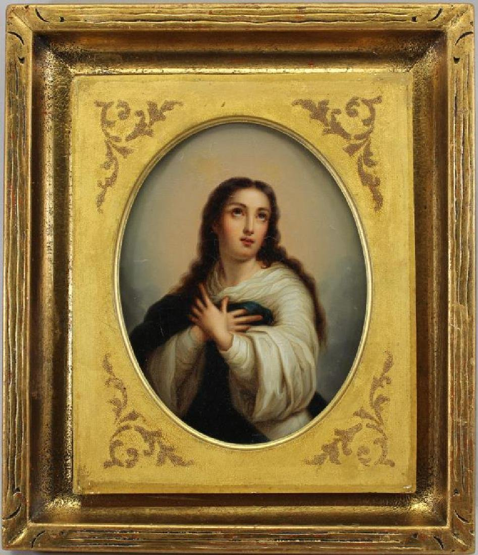 19th C. European School Painting of Madonna