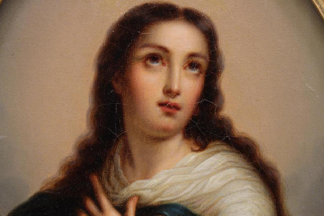 19th C. European School Painting of Madonna - 2