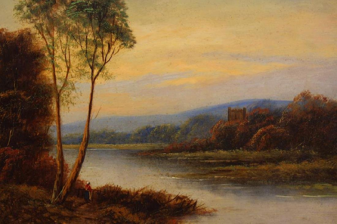 T. Wood (UK, 19th C) Pair of English Landscapes - 3