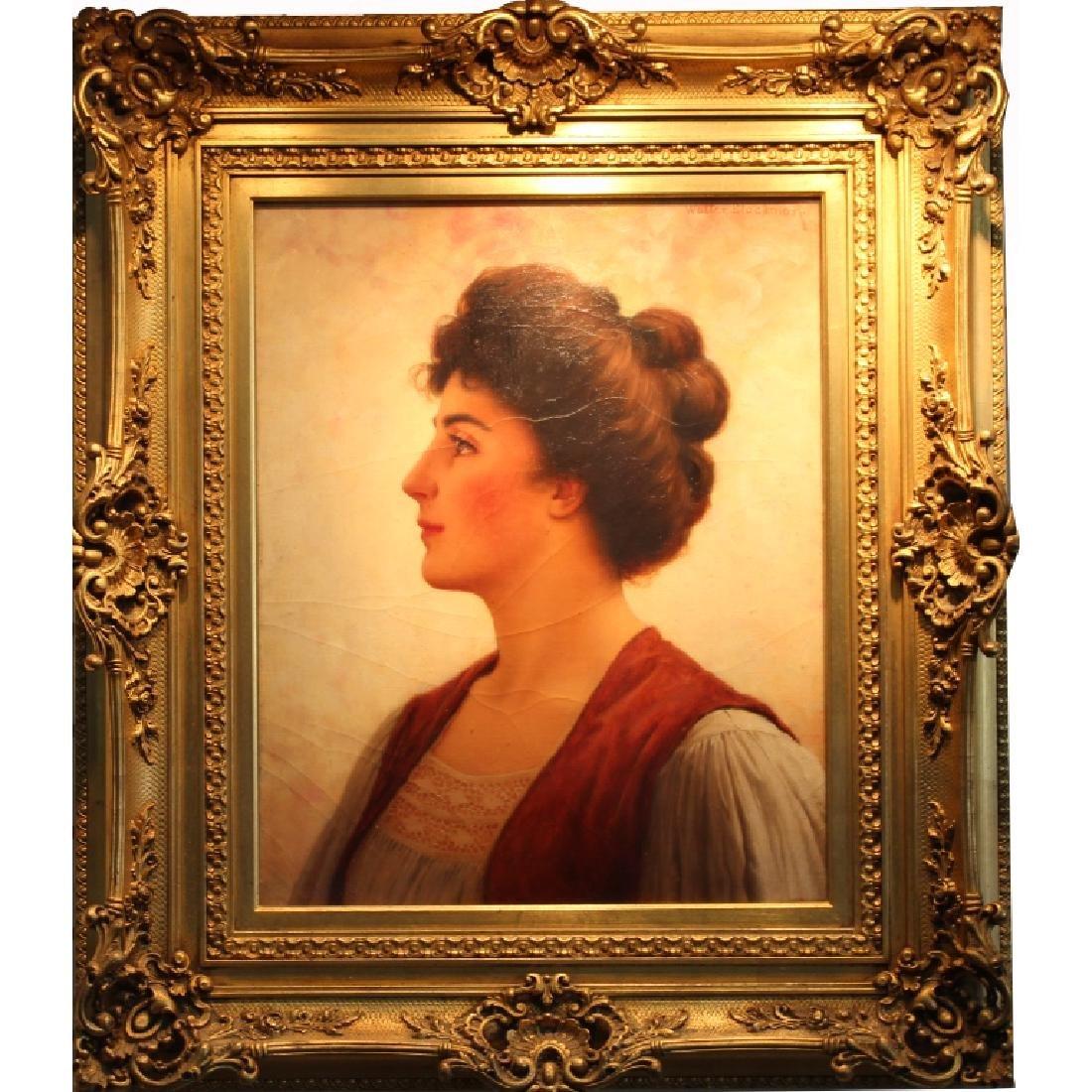 Walter Blackman (1847-1928) Portrait of a Female