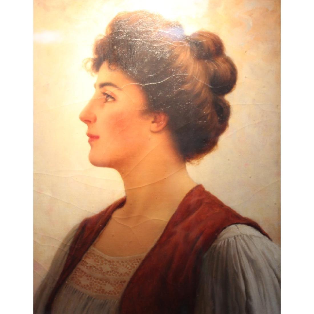 Walter Blackman (1847-1928) Portrait of a Female - 2
