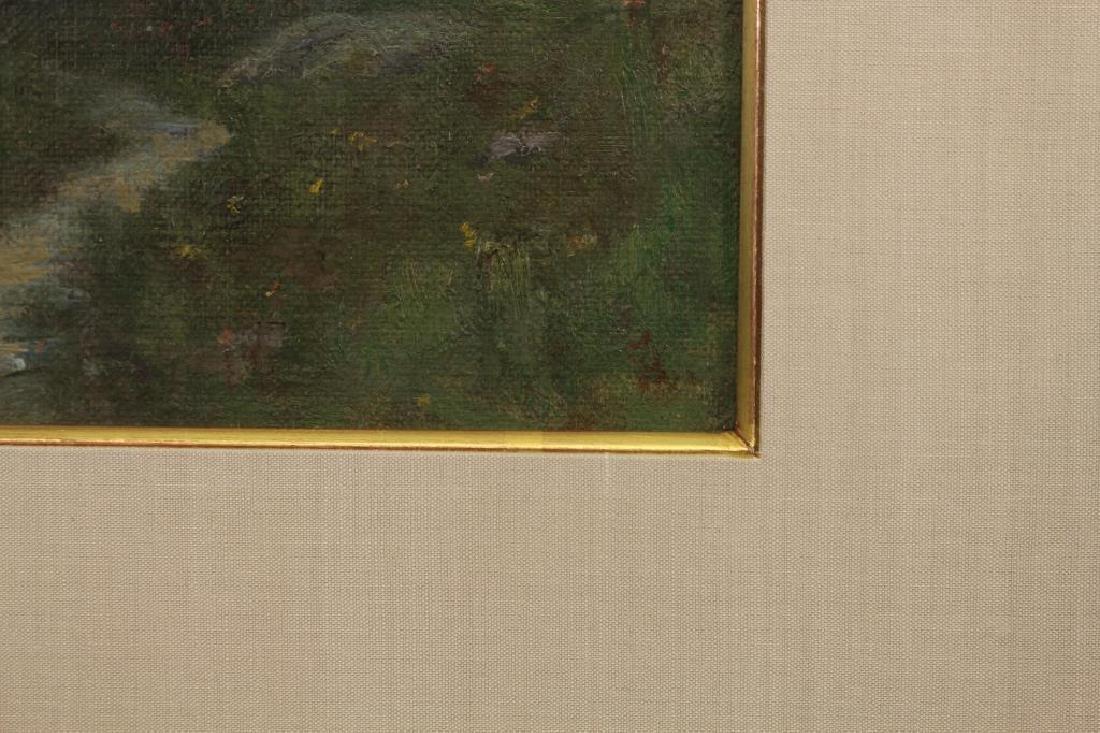 American School Figure in a Landscape. Monogrammed - 3