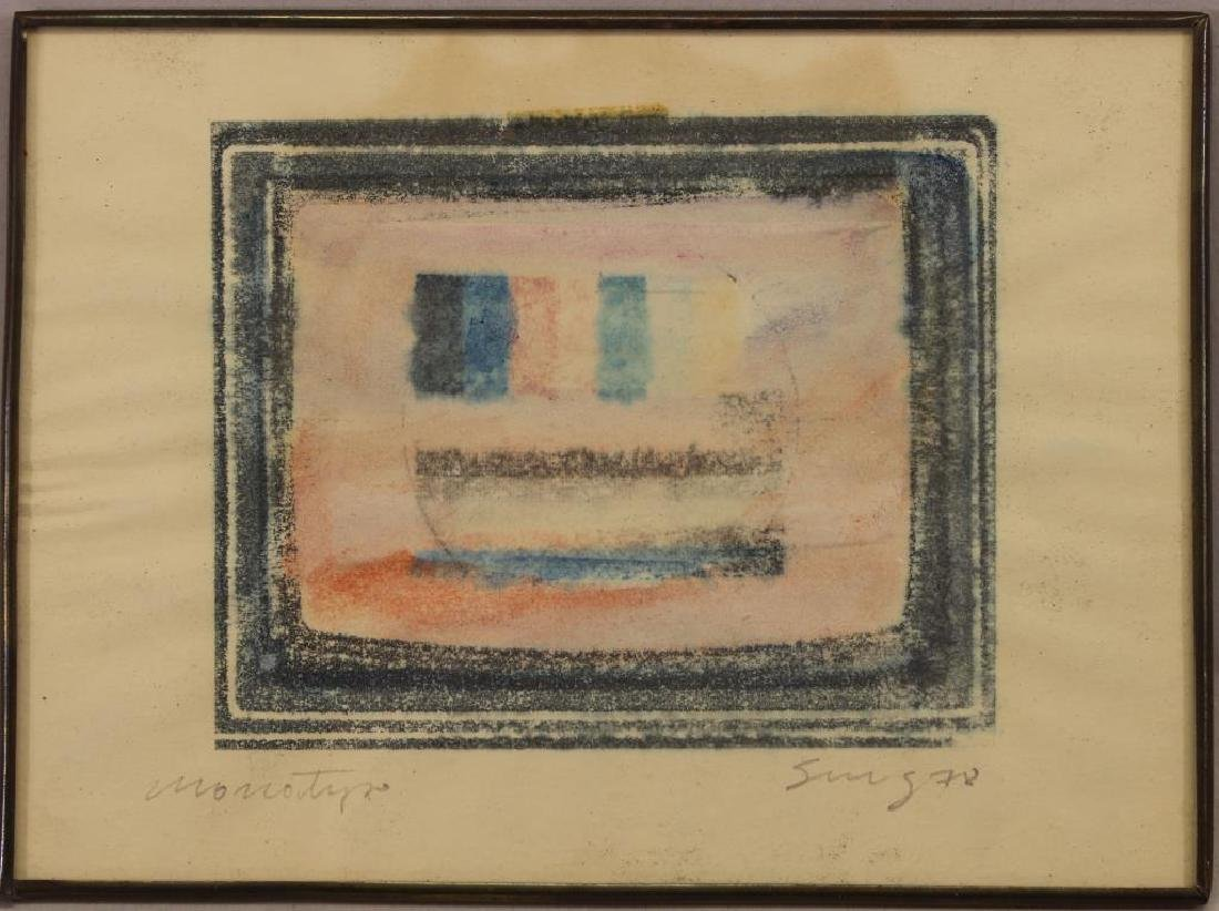 20th C. Signed Abstract Monotype