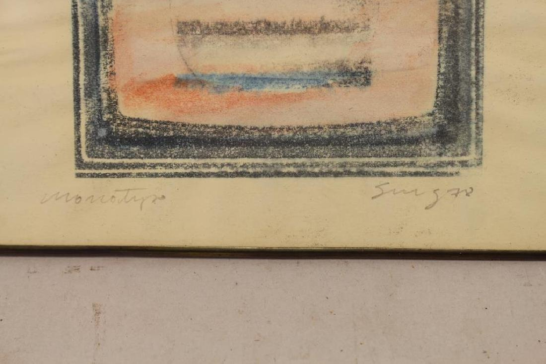 20th C. Signed Abstract Monotype - 2