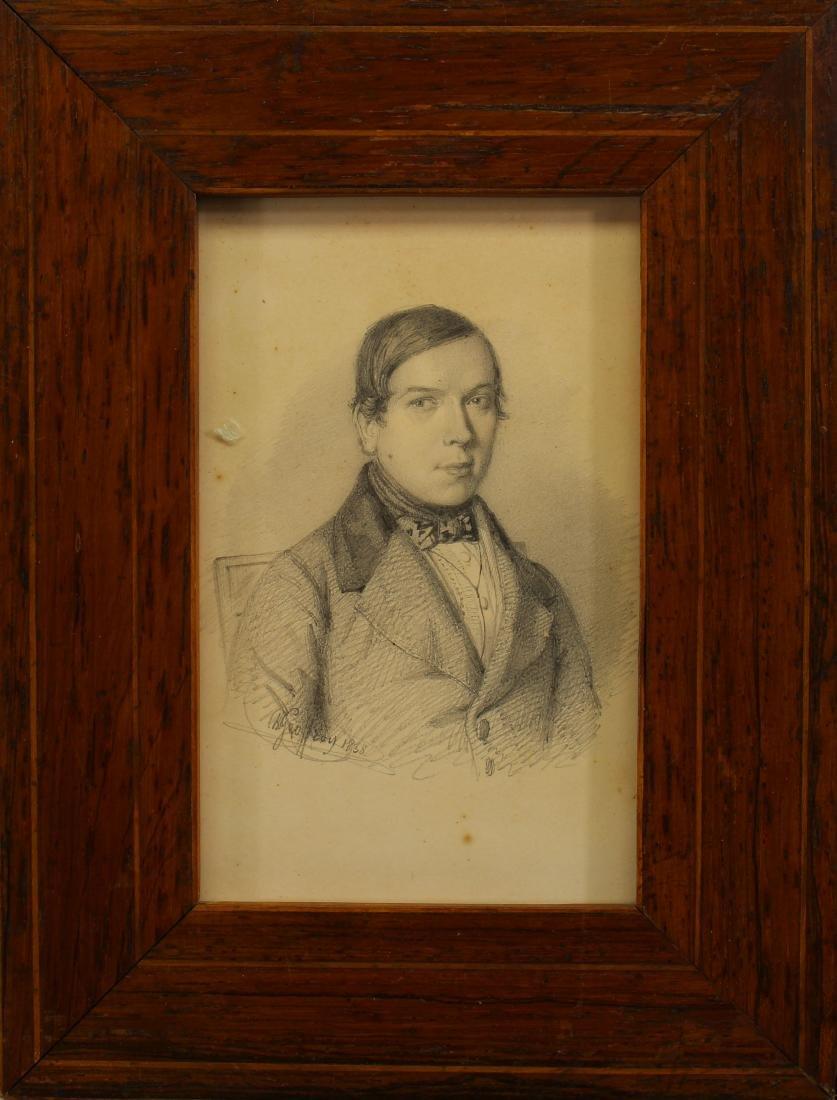 1838 Ch. Geoffrey Portrait of a Gentleman