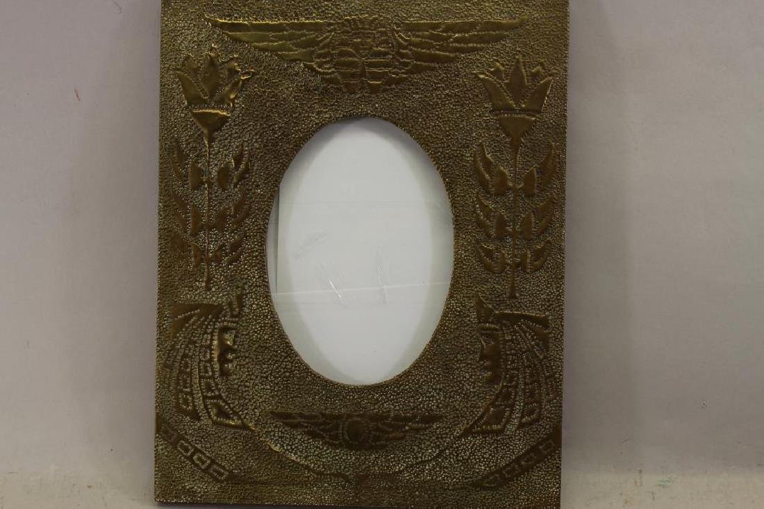 Attr. Newcomb Macklin, Hammered Brass Frame