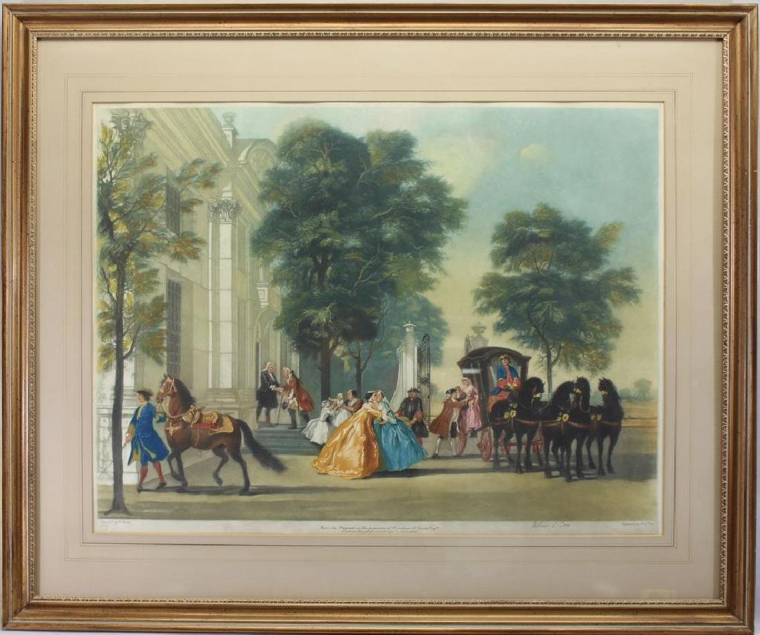 Antique English Engraving of a Procession