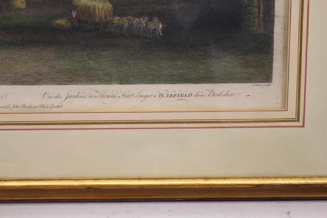 """A View of the Gardens of Thomas Hart"" Engraving - 3"