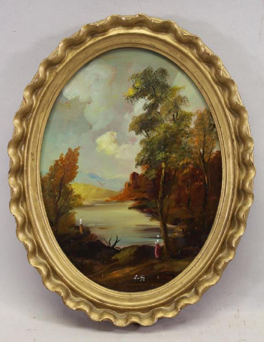 Hudson River School, Figure in a Landscape