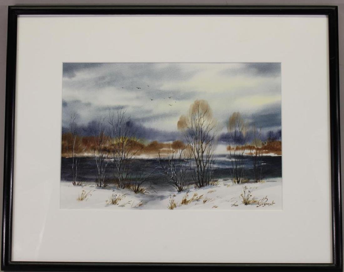Signed, 20th C. Russian Winter Landscape