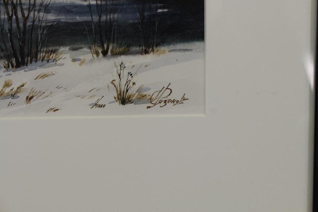 Signed, 20th C. Russian Winter Landscape - 2