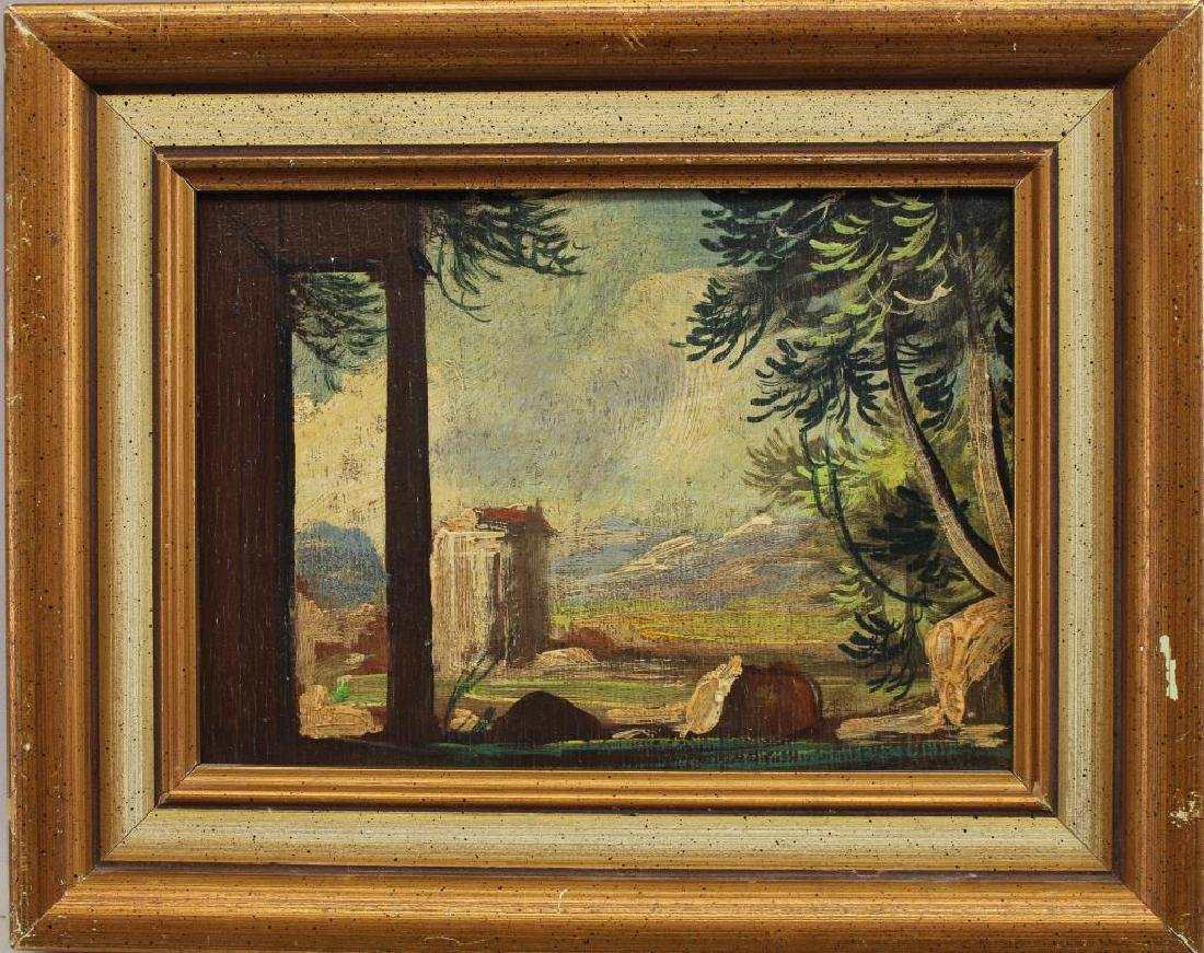 European School, Painting of Ruins in Landscape