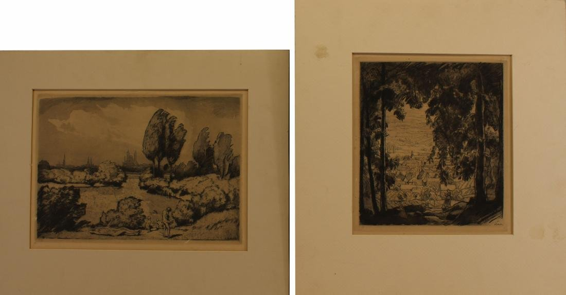 (2) Paul Burck (1878 - 1947) Etchings