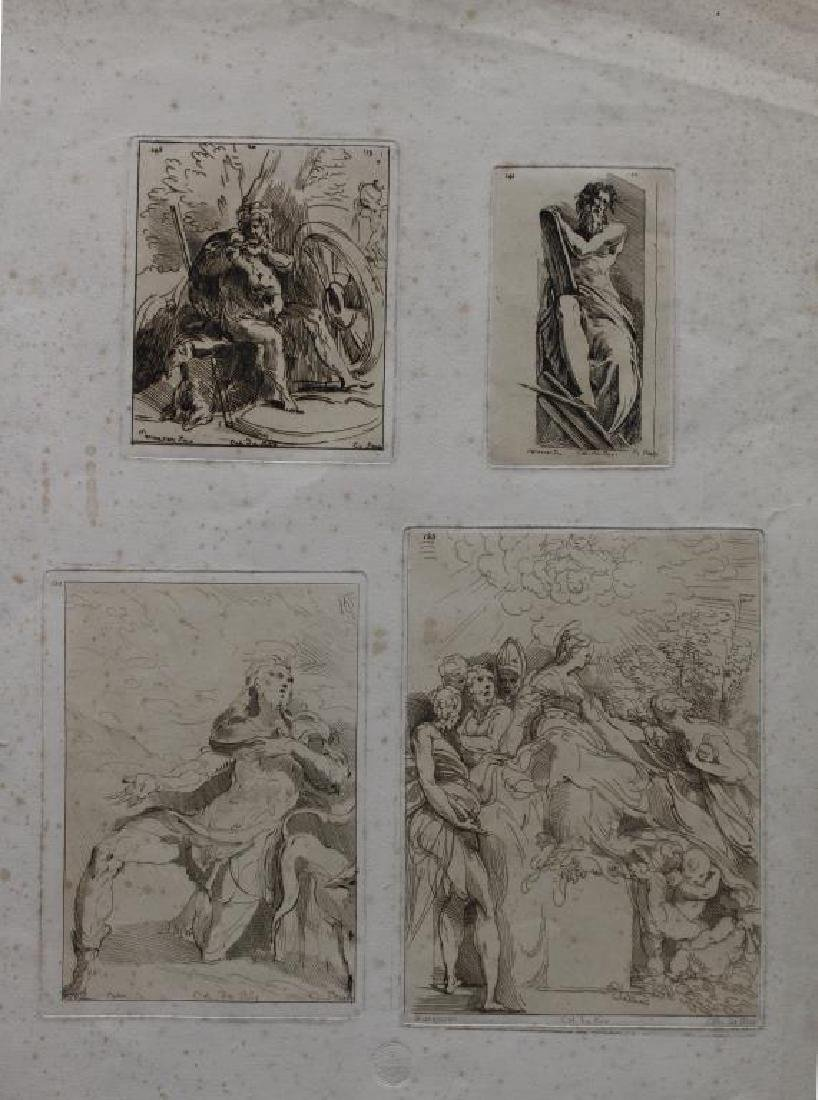 (4) Antique Old Master Style Etchings