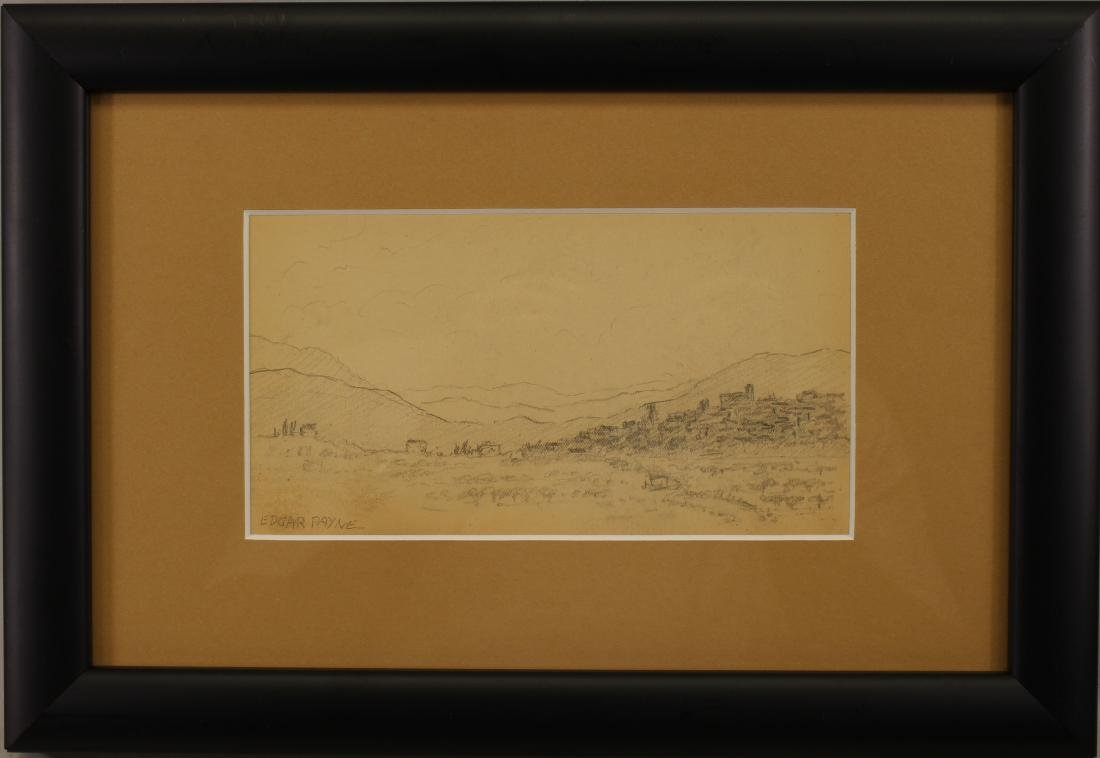 American School, Signed Western Landscape Sketch