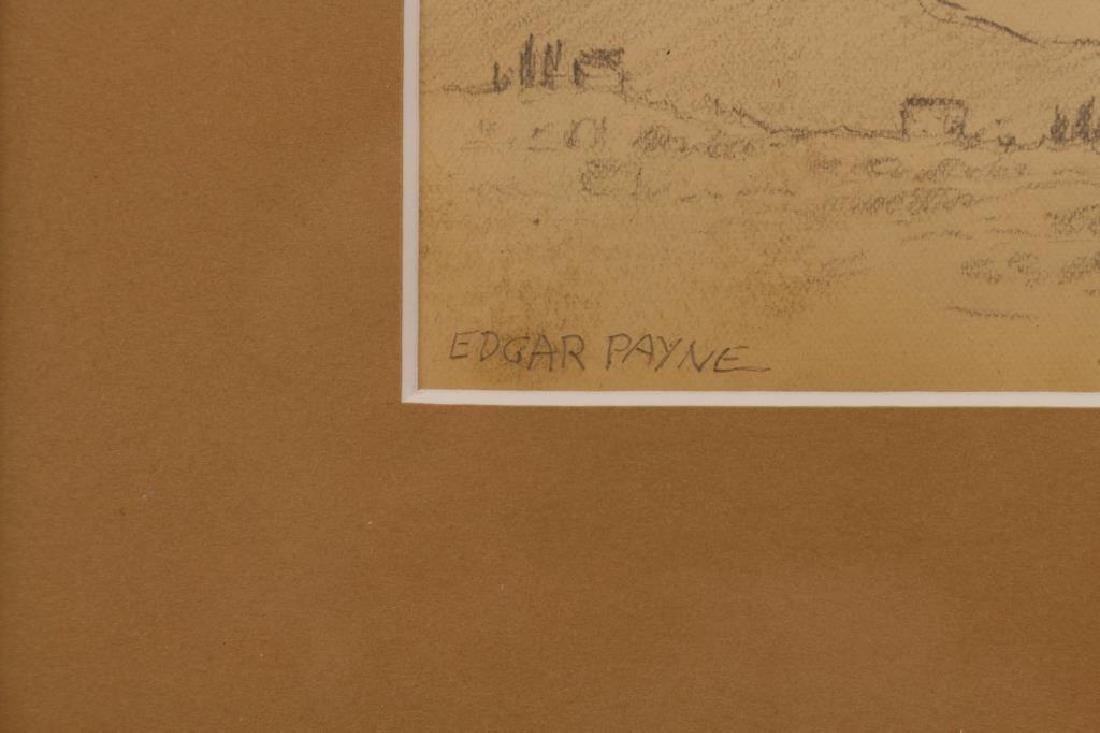 American School, Signed Western Landscape Sketch - 3