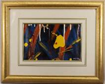 Signed 20th C Abstract Oil Painting