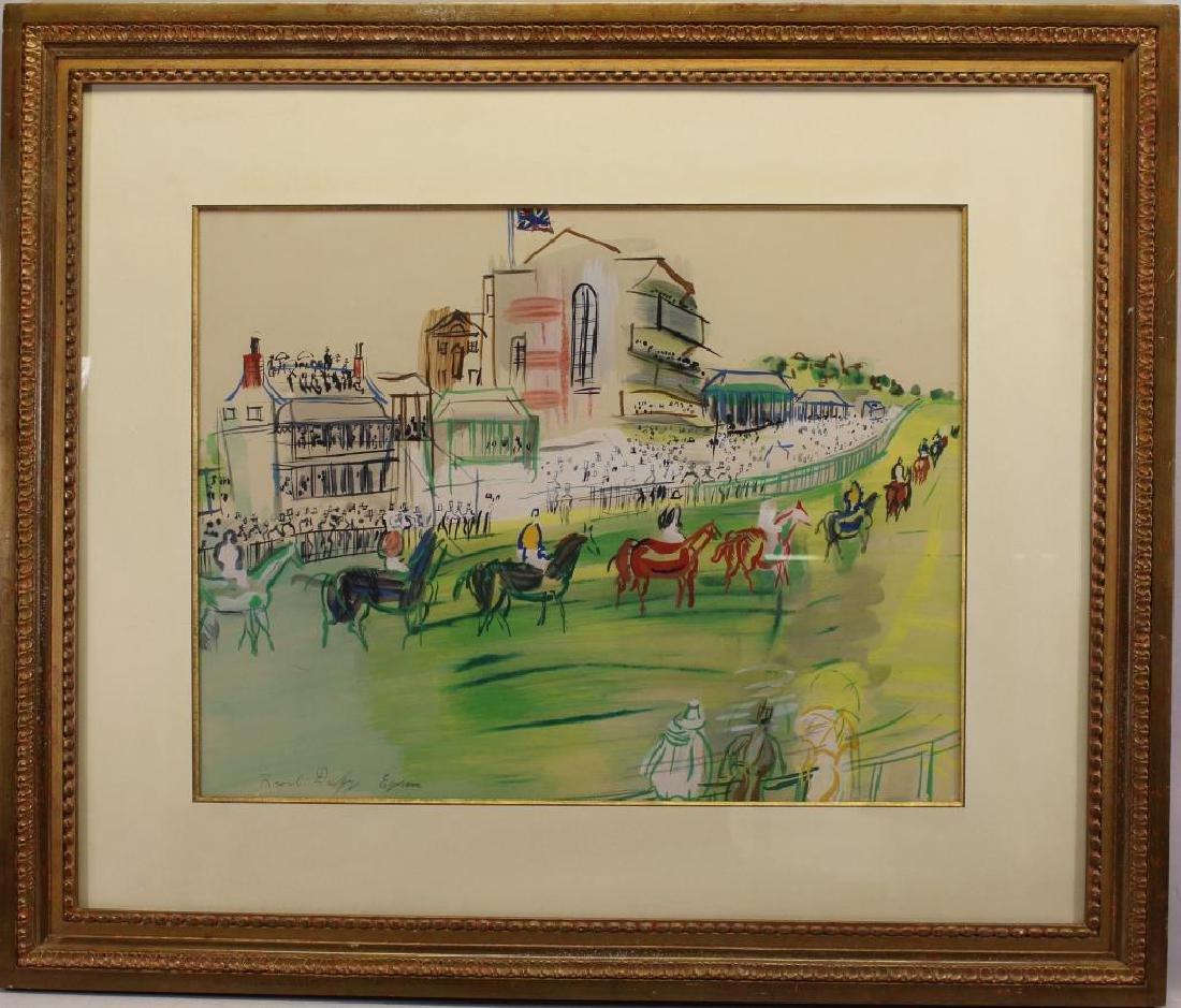 "Raoul Dufy (1877 - 1953) ""Epsom"" Silkscreen"