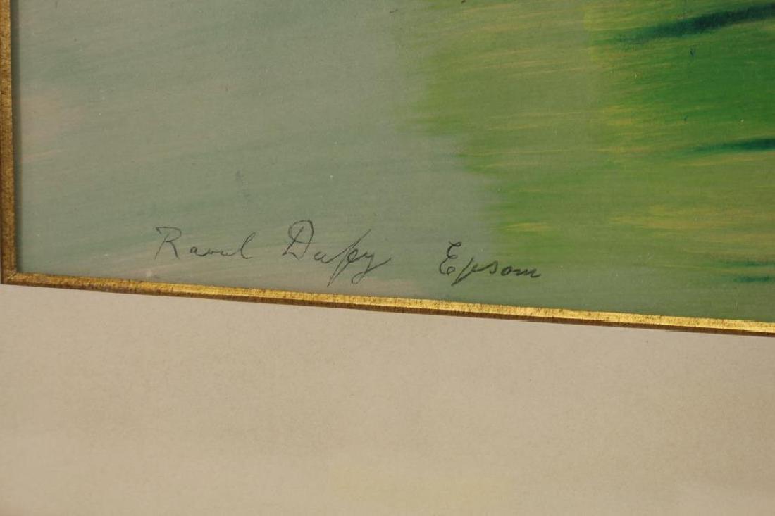 "Raoul Dufy (1877 - 1953) ""Epsom"" Silkscreen - 3"