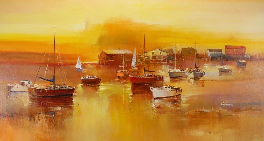 (4) Wilfred (B. 1954 Hawaii Netherlands) Paintings