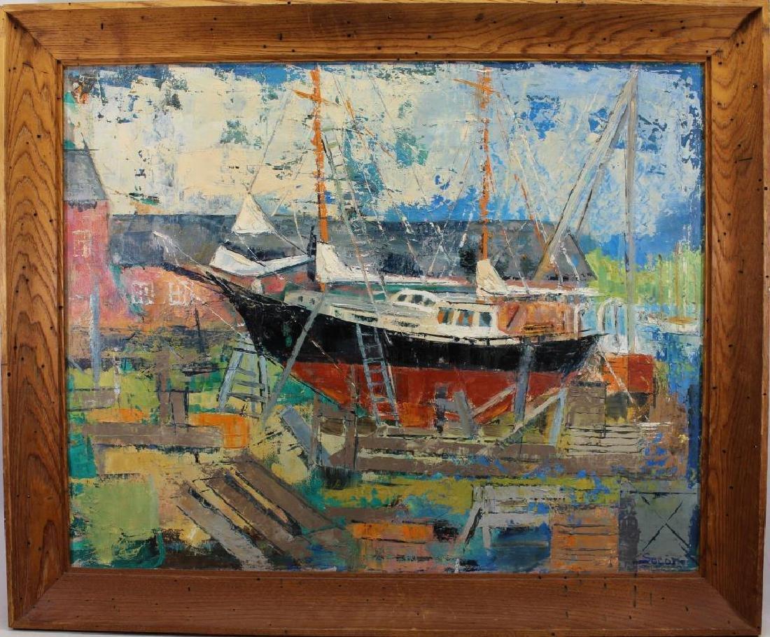 """Johanna Secor (20th Century) """"Johnson's Boat"""""""