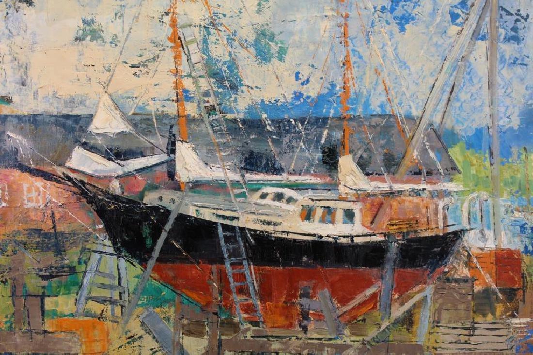 """Johanna Secor (20th Century) """"Johnson's Boat"""" - 2"""