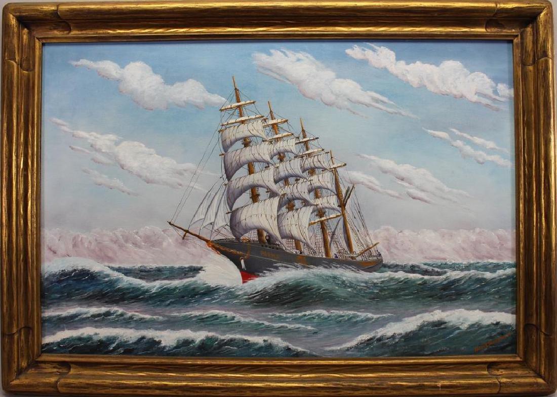 Arthur Swanson, Clipper Ship at Sea