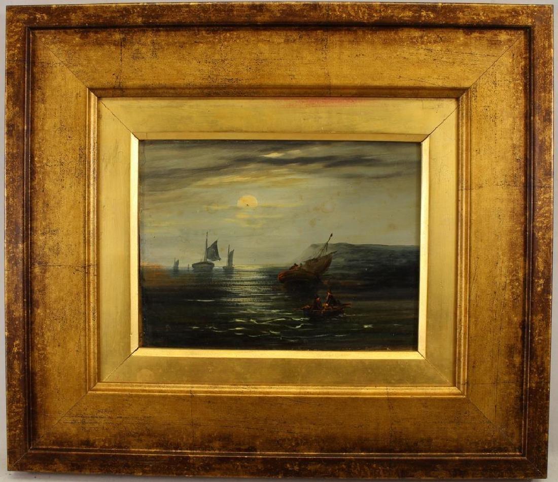 18th C. Luminous Coastal Scene with Sailboats