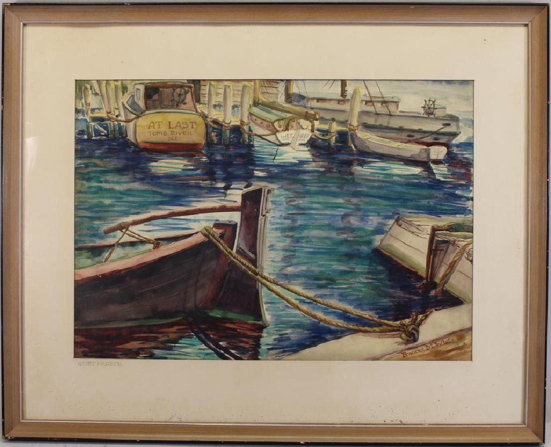 """Frances White (NY, early 20th c.) """"Quiet Harbor"""""""