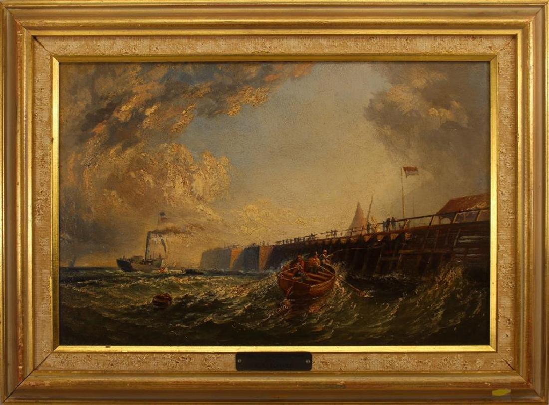"""""""Pier at Calais France"""" Thomas Robins (1810-1880)"""