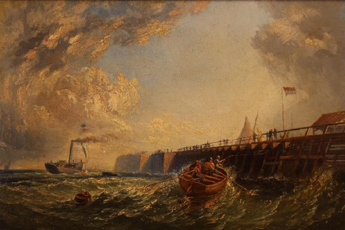 """""""Pier at Calais France"""" Thomas Robins (1810-1880) - 2"""