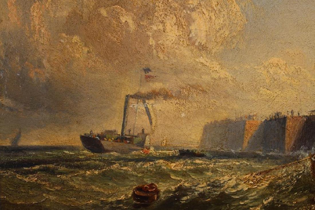 """""""Pier at Calais France"""" Thomas Robins (1810-1880) - 3"""