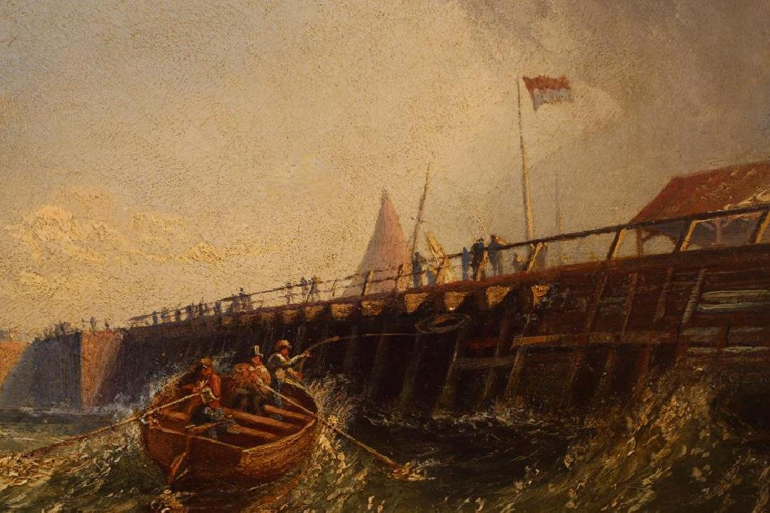 """""""Pier at Calais France"""" Thomas Robins (1810-1880) - 4"""