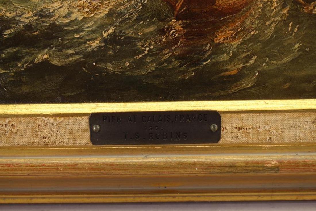 """""""Pier at Calais France"""" Thomas Robins (1810-1880) - 6"""