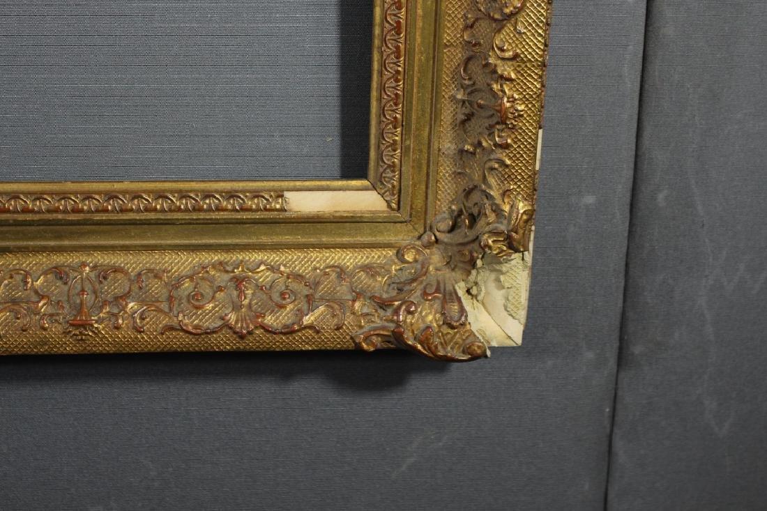 Antique Gilt/Carved Wooden European Frame - 2