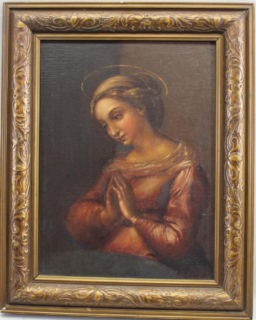 Old Master Style Painting of Madonna