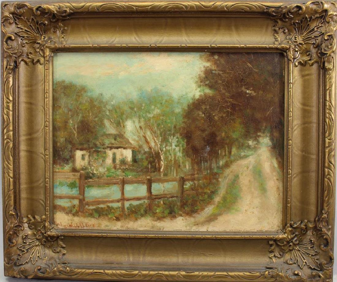 Signed, Painting of a Wooded Pathway