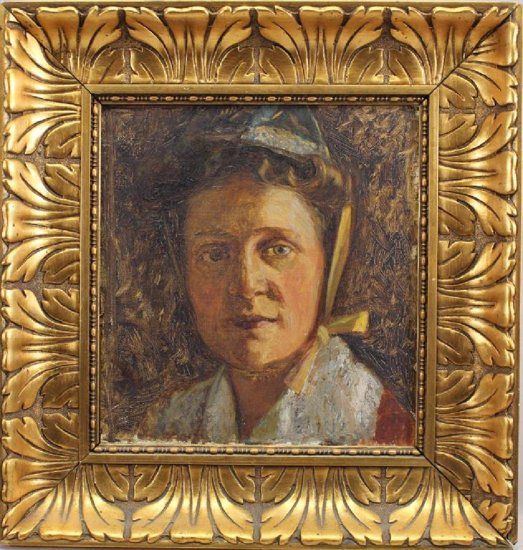 European School, Impressionist Portrait of a Woman