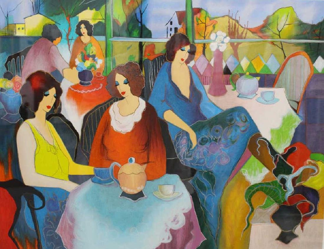 """Brunch w/ Friends"" Itzchak Tarkay Serigraph"