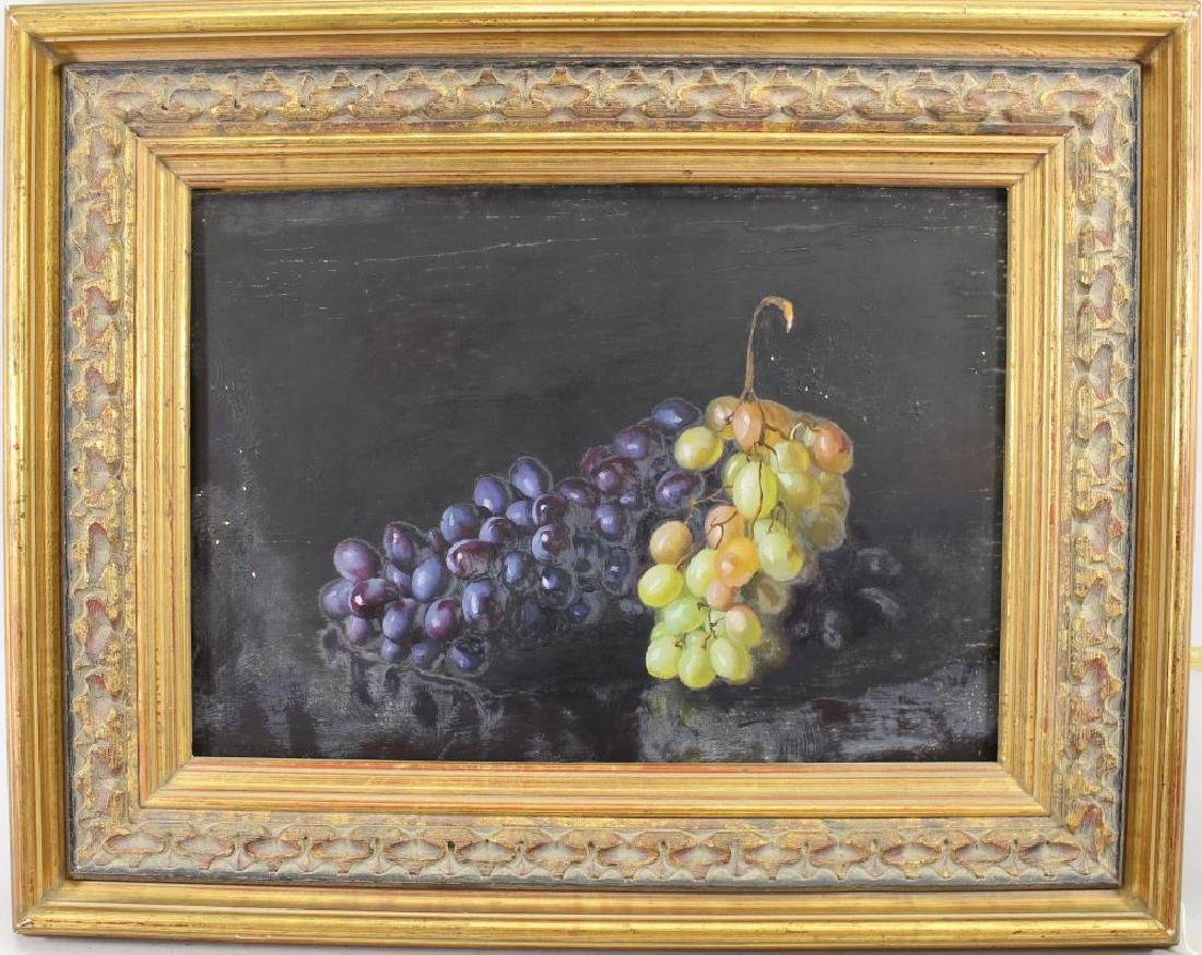 19th C. Still Life Painting of Grapes