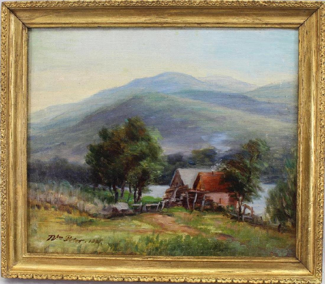 19th C. American School Country Landscape, Signed