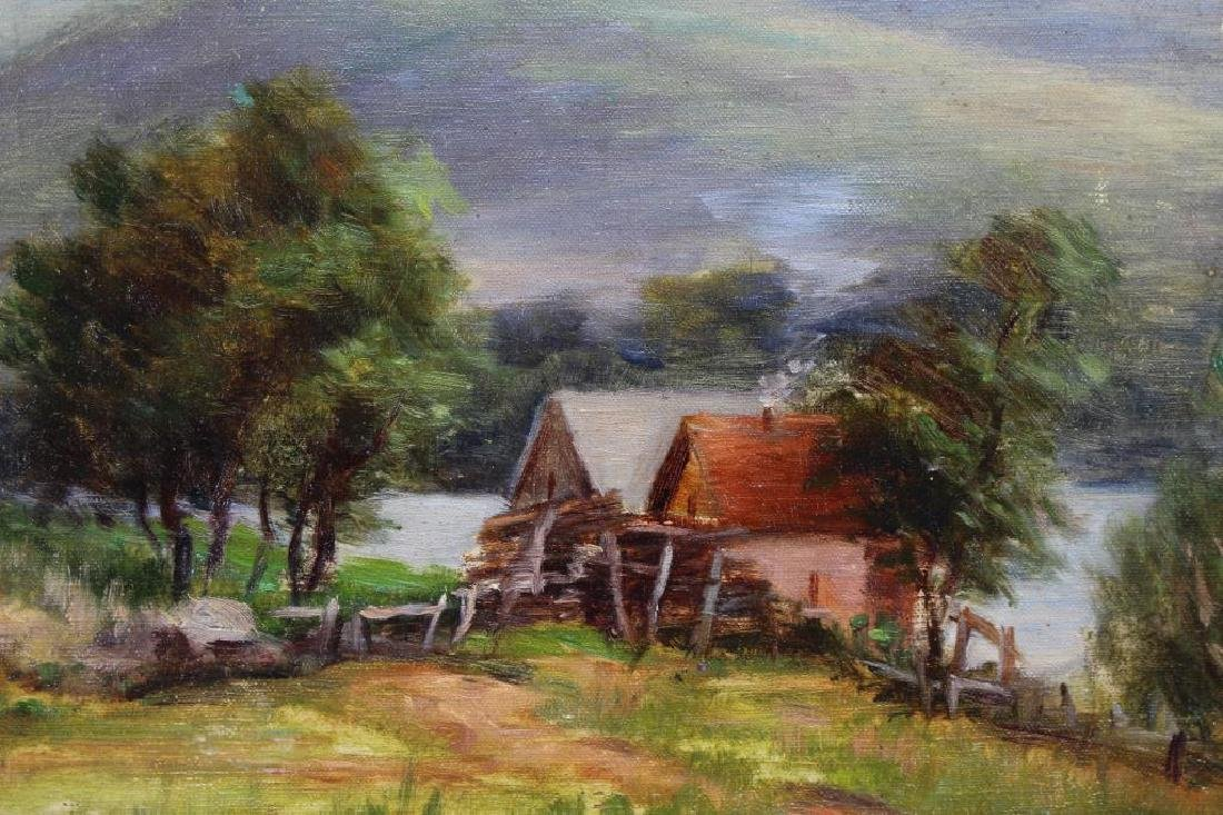 19th C. American School Country Landscape, Signed - 2